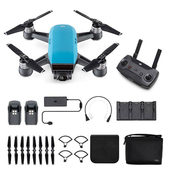 DJI™  Spark Mini Drone - Fly More Combo With Remote & Accessories - Sky Blue
