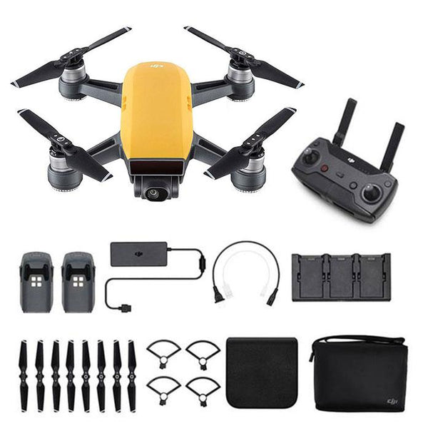 DJI™  Spark Mini Drone - Fly More Combo With Remote & Accessories - Sunrise yellow