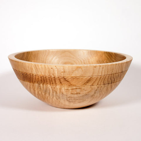 9 1/2 Inch Curly Maple Wooden Bowl
