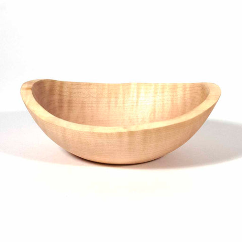 Natual Edge Curly Maple Wood Bowl, 5 1/4 inch - Dailey Woodworking