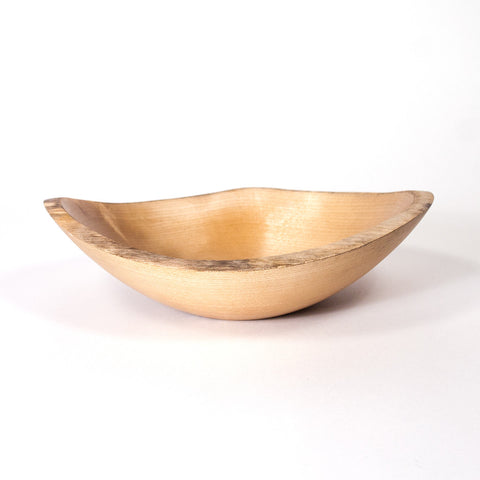 8 Inch Natural Edge Birch Wood Bowl - Dailey Woodworking