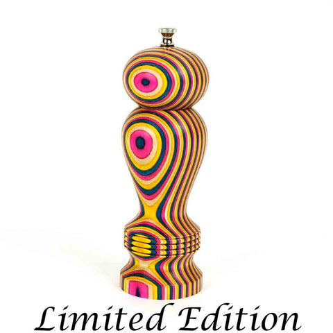 Limited Edition 8 Inch Laminated May Flowers Haynes Pepper Mill - Dailey Woodworking