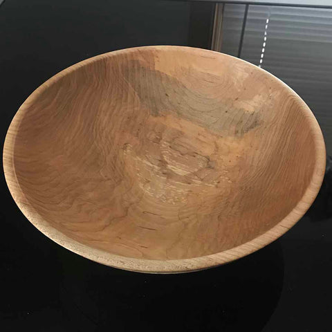 9 Inch Curly Maple Wood Bowl