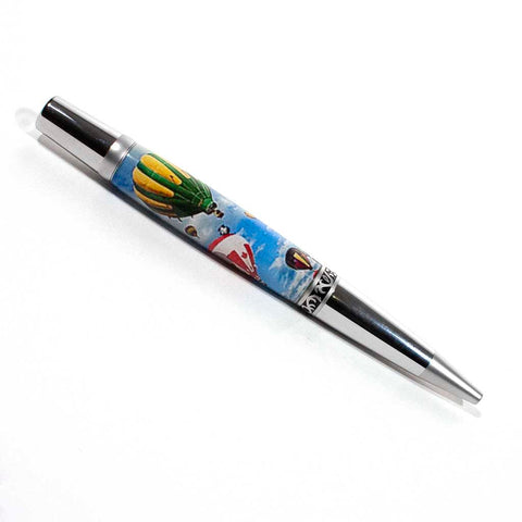 Chrome and Satin Chrome Yarmouth Hot Air Balloon Ballpoint Pen - Dailey Woodworking