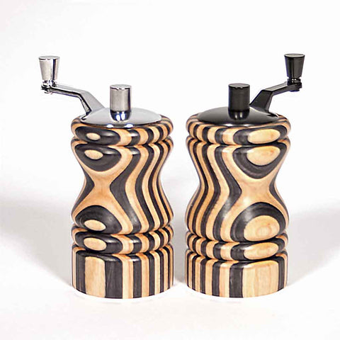 Set of black and white (natural) Ferris mini-grinders - Dailey Woodworking