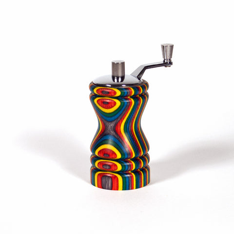 Ferris Confetti colored mini-grinder chrome top