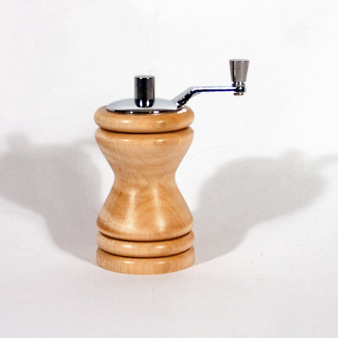 Ferris Curly Maple mini-grinder chrome top