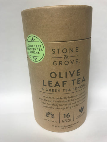 Olive Leaf Tea & Green Tea Sencha (STONE & GROVE)