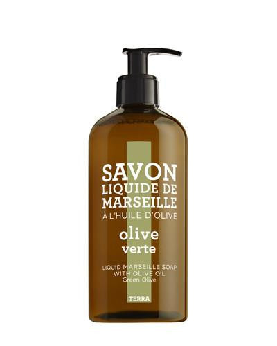 Liquid Marseille Soap 16.9 oz - Green Olive