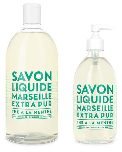 Liquid Marseille Soap Set - Mint Tea