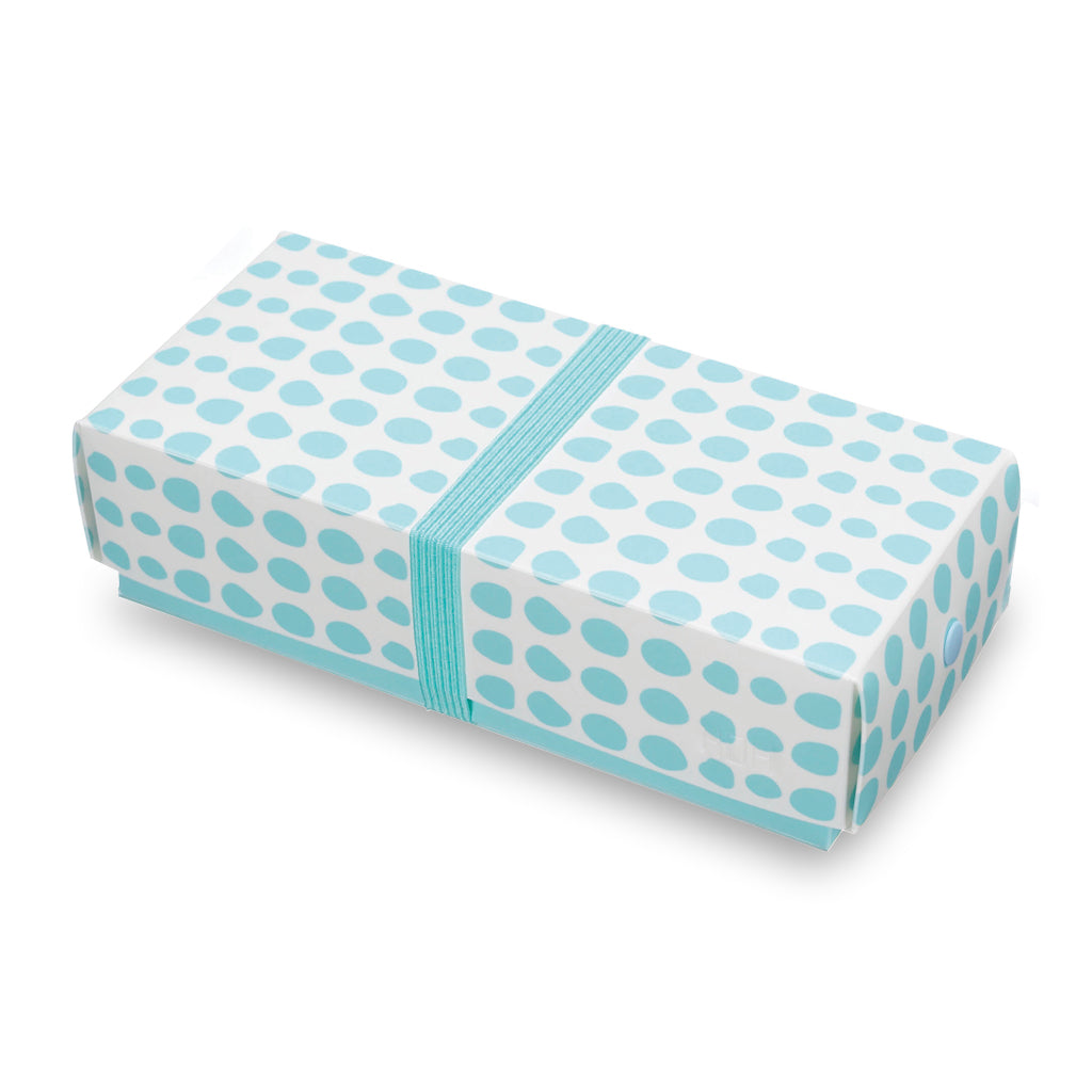 Reusable Foldable Lunch Box | Regular | Rain Drop Pattern - CHERRYSTONE by MARKET TO JAPAN LLC