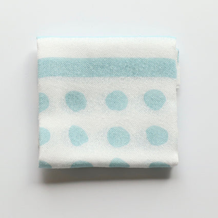 Fuita Cotton Handkerchief |  Light Blue Polka Dots - CHERRYSTONE by MARKET TO JAPAN LLC