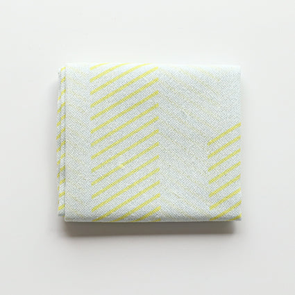 Fuita Cotton Handkerchief |  Lemon Yellow Stripes - CHERRYSTONE