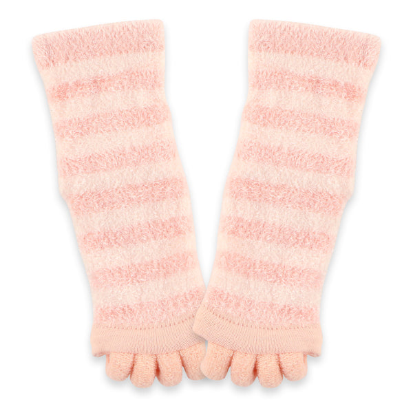 Refreshing Toe Separator Crew Socks | Pink - CHERRYSTONE by MARKET TO JAPAN LLC