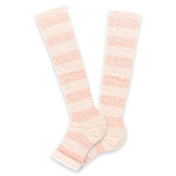 Refreshing Toeless Compression Socks | Knee-high | Pink - CHERRYSTONE