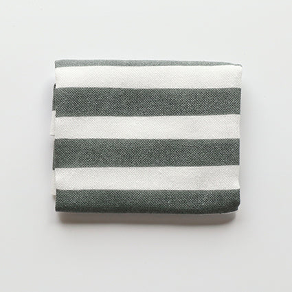 Fuita Cotton Handkerchief |  White and Gray Stripes - CHERRYSTONE by MARKET TO JAPAN LLC
