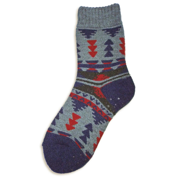 Tribal Crew Socks with Grips | Grey - CHERRYSTONE