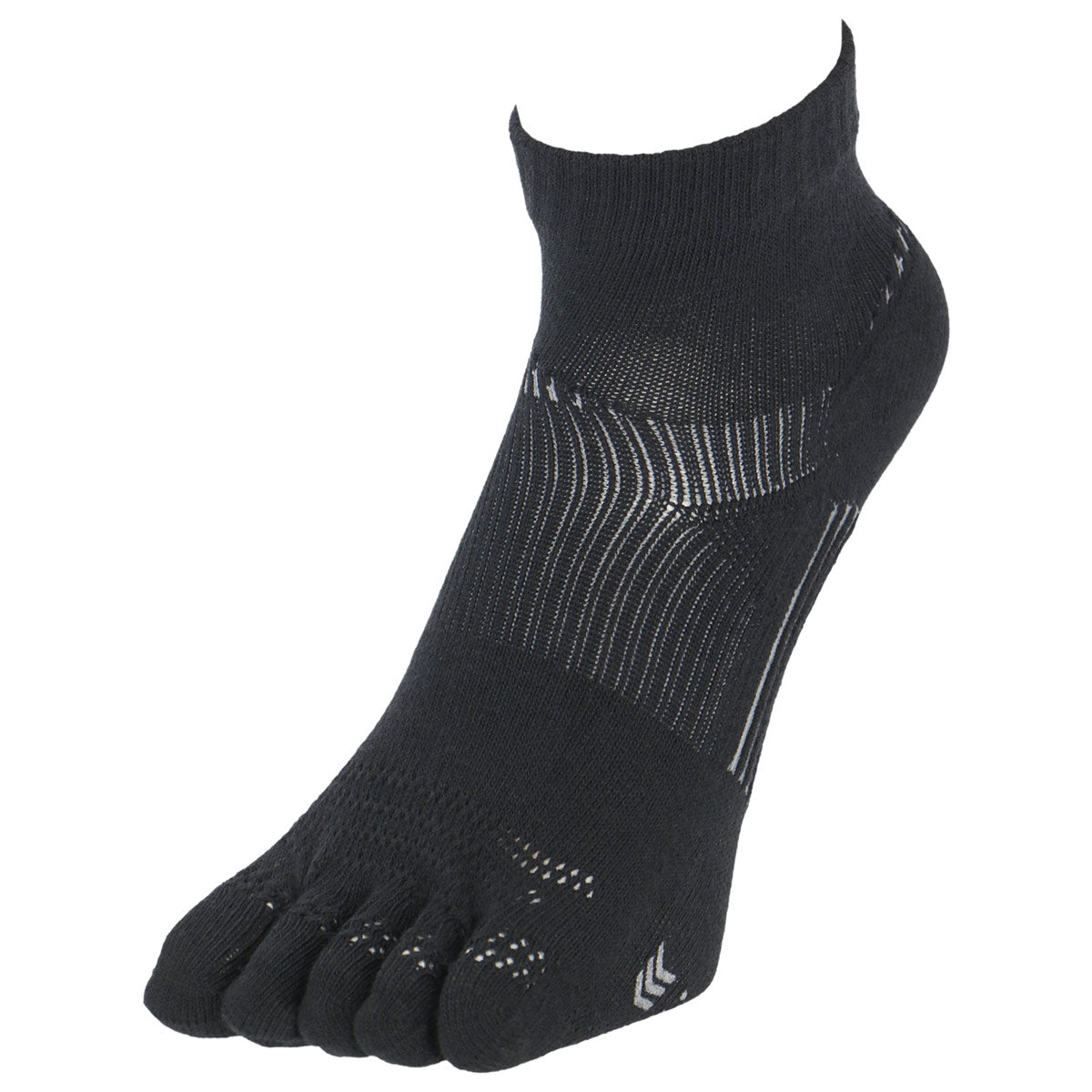5 Toes Arch Support Ankle Running Socks with Grips for Men | Black - CHERRYSTONE