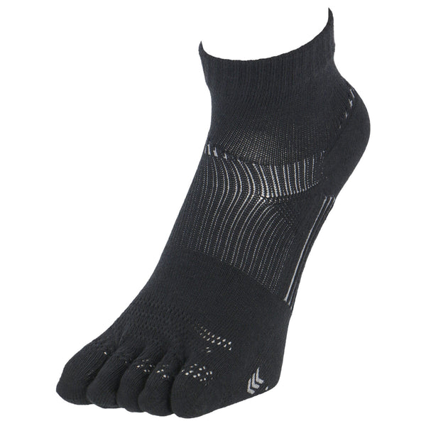 5 Toes Arch Support Ankle Running Socks with Grips for Men | Black - CHERRYSTONE by MARKET TO JAPAN LLC