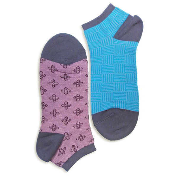2 in 1 Reversible Socks | Weave Pattern | Light Magenta - CHERRYSTONE