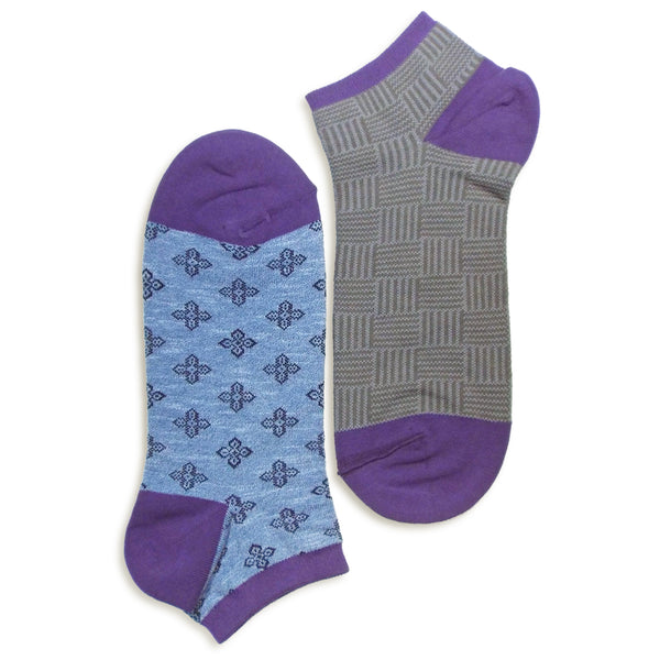 2 in 1 Reversible Socks | Weave Pattern | Blue - CHERRYSTONE
