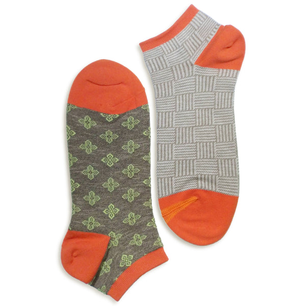 2 in 1 Reversible Socks | Weave Pattern | Grey - CHERRYSTONE