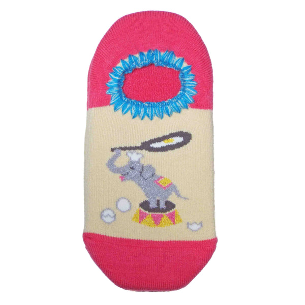 CHERRYSTONE Slipper Socks | Animal Designs | Elephant | Pink - CHERRYSTONE