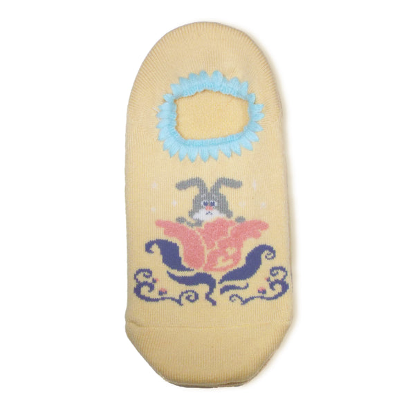 CHERRYSTONE Slipper Socks | Animal Designs | Rabbit | Yellow - CHERRYSTONE