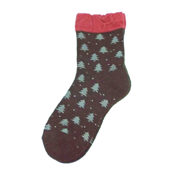 Soft Knit Crew Socks | Tree | Charcoal