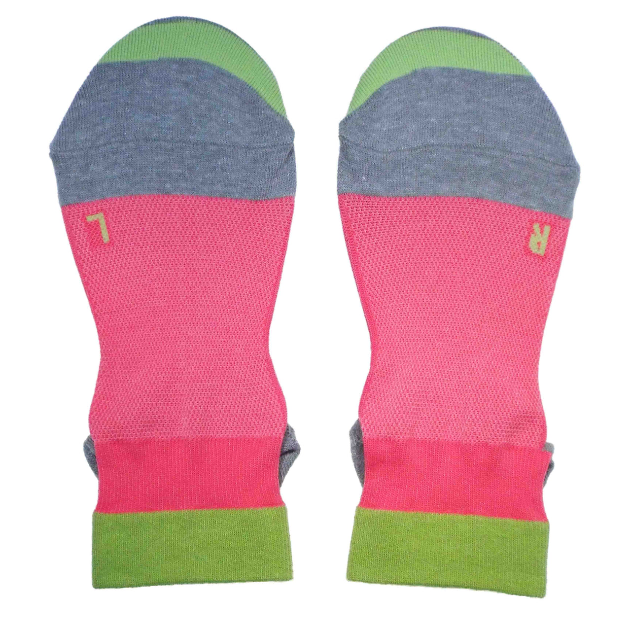 Arch Support Ankle Running Socks with Grips for Women | Hot Pink - CHERRYSTONE by MARKET TO JAPAN LLC