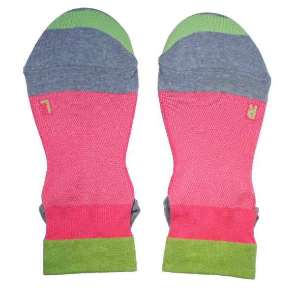 Arch Support Ankle Running Socks with Grips for Women | Hot Pink - CHERRYSTONE