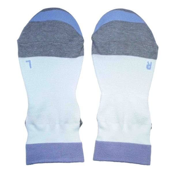 Arch Support Ankle Running Socks with Grips for Women | White - CHERRYSTONE