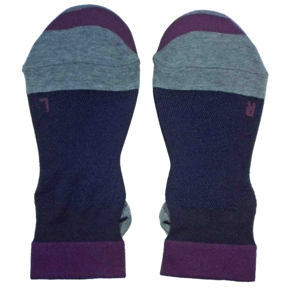 Arch Support Ankle Running Socks with Grips for Women | Black - CHERRYSTONE