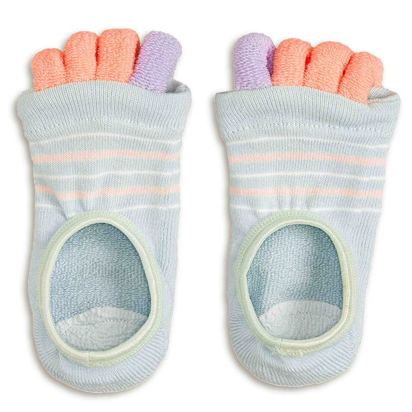Refreshing Toe Separator Socks | Striped Pattern | Mint - CHERRYSTONE