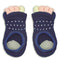 Refreshing Toe Separator Socks | Dot Pattern | Navy - CHERRYSTONE