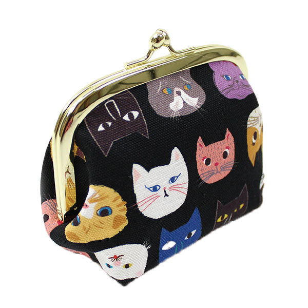 Ball Clasp Coin Purse | Cat Expo | Black - CHERRYSTONE