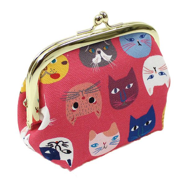 Ball Clasp Coin Purse | Cat Expo | Pink - CHERRYSTONE by MARKET TO JAPAN LLC