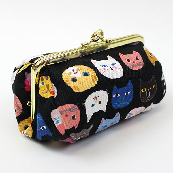 Ball Clasp Clutch Purse | Cat Expo | Black - CHERRYSTONE by MARKET TO JAPAN LLC