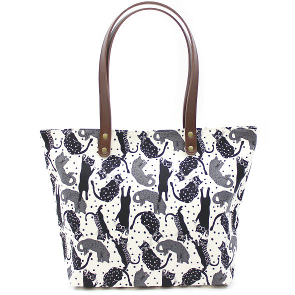 Tote Shoulder Bag | Dancing Cats - CHERRYSTONE