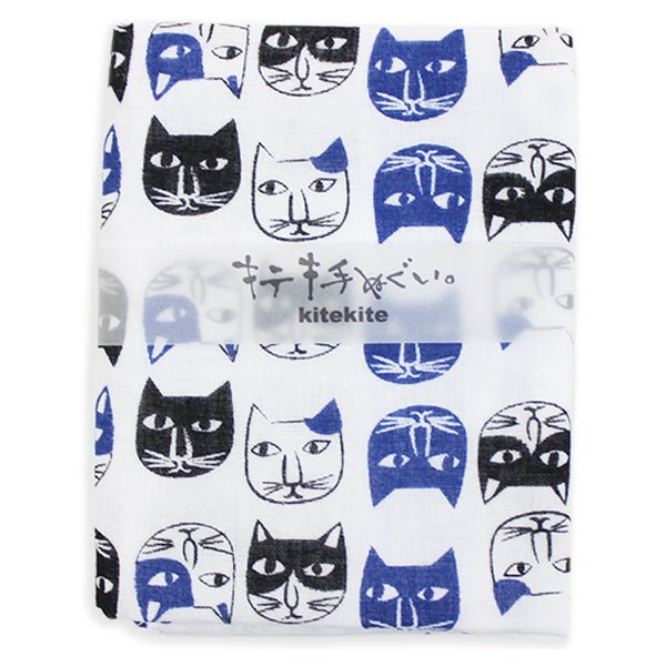 Japanese Tenugui 100% Cotton Towel | Cat Expo - CHERRYSTONE by MARKET TO JAPAN LLC
