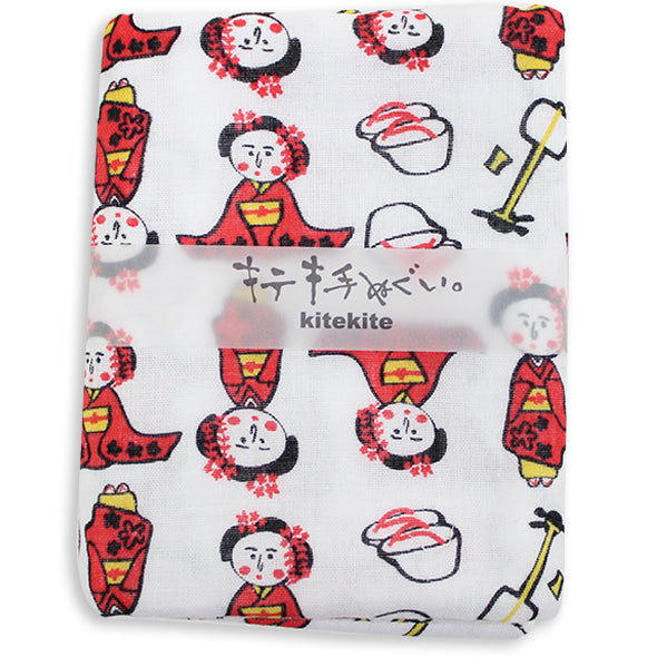 Japanese Tenugui 100% Cotton Towel | Maiko - CHERRYSTONE by MARKET TO JAPAN LLC