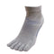 5 Toes Arch Support Ankle Running Socks with Grips for Women | Gray - CHERRYSTONE