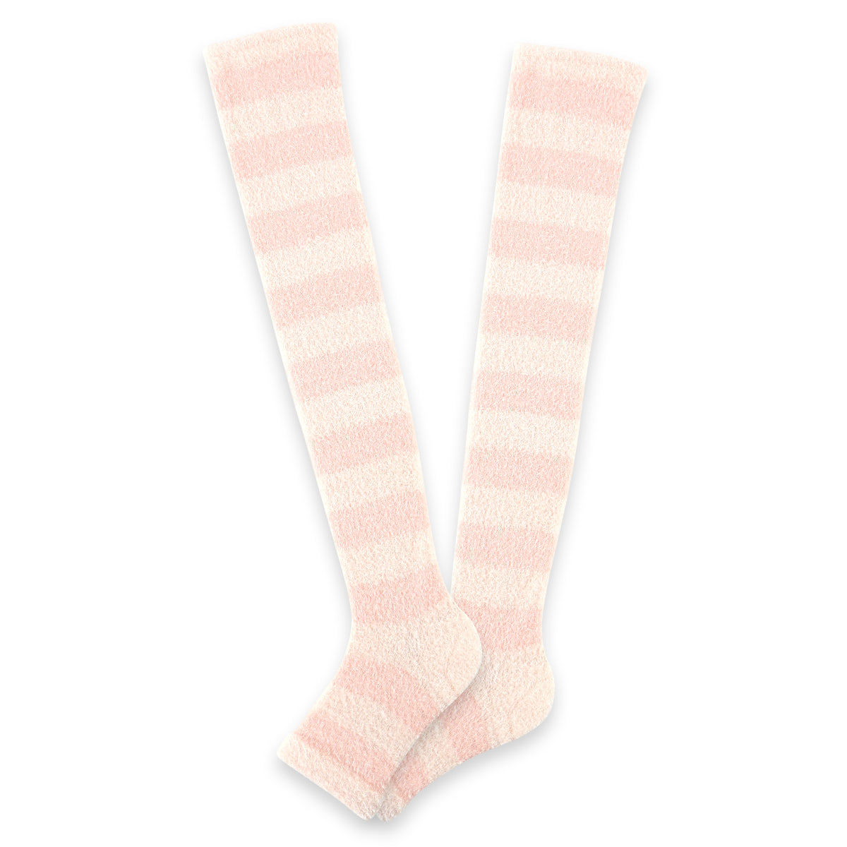 Refreshing Toeless Compression Socks | Over-the-knee | Pink - CHERRYSTONE