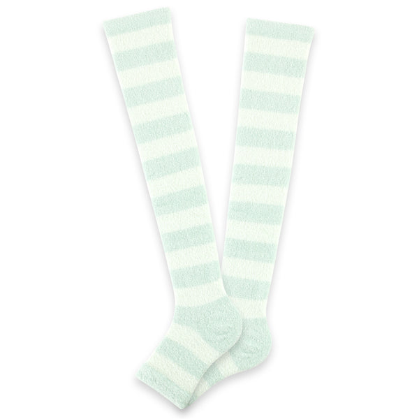 Refreshing Toeless Compression Socks | Over-the-knee | Mint - CHERRYSTONE