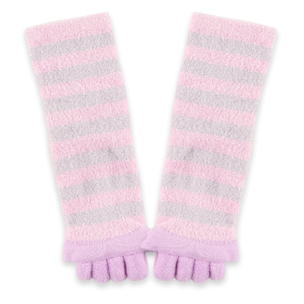 Refreshing Toe Separator Crew Socks | Lavender - CHERRYSTONE by MARKET TO JAPAN LLC