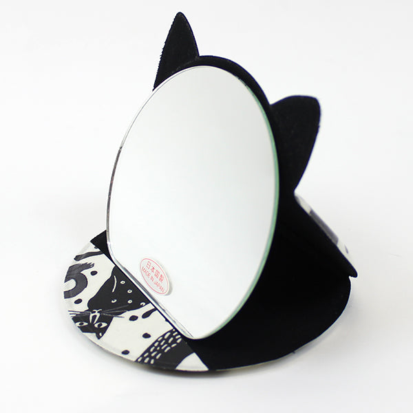 Cat Shaped Compact Mirror | Medium | Dancing Cats - CHERRYSTONE