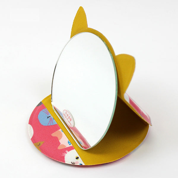 Cat Shaped Compact Mirror | Medium | Cat Expo | Pink - CHERRYSTONE