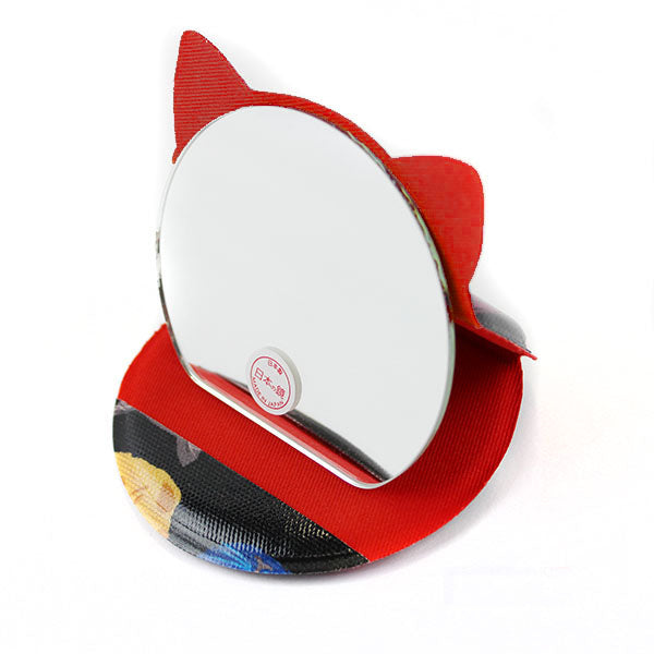 Cat Shaped Compact Mirror | Small | Cat Expo | Black - CHERRYSTONE