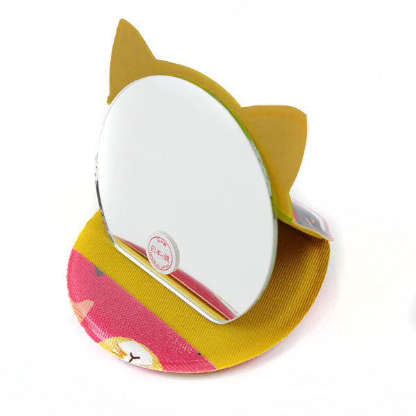 Cat Shaped Compact Mirror | Small | Cat Expo | Pink - CHERRYSTONE