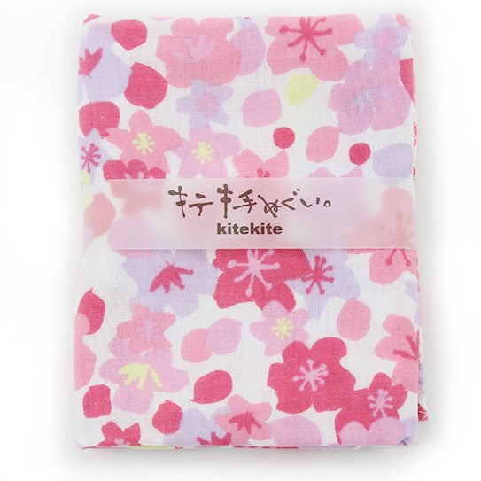 Japanese Tenugui 100% Cotton Towel | Blooming Cherry Blossom - CHERRYSTONE